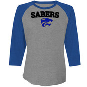 Conklin SABERS with Back - Next Level Unisex Tri-Blend 3/4-Sleeve Raglan 3