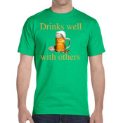 Drinks well with others -  - DryBlend® 5.6 oz., 50/50 T-Shirt