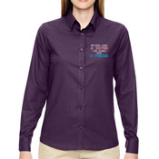 A sister a friend - Ladies' Paramount Wrinkle-Resistant Cotton Blend Twill Checkered Shirt