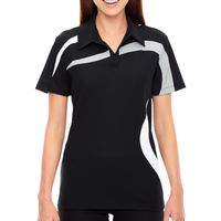 Ladies' Impact Performance Polyester Piqué Colorblock Polo Thumbnail
