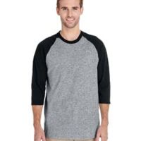 Adult  Heavy Cotton™ 5.3 oz. 3/4-Raglan Sleeve T-Shirt Thumbnail