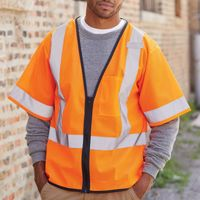 Economy Single Pocket Zipper Vest Thumbnail