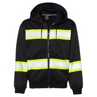 Enhanced Visibility Heavyweight Hooded Full-Zip Sweatshirt Thumbnail