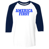 America First - Heavy Cotton ¾-Sleeve Raglan Thumbnail