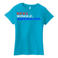 Sexy Single American - Ladies' Lightweight T-Shirt Thumbnail