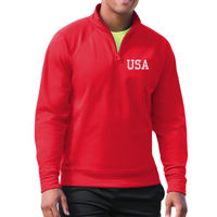 USA Quarter Zip - Dri-POWER® SPORT Adult Quarter-Zip Tech Fleece Thumbnail