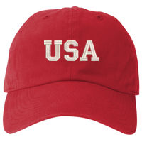 USA Embroidered -  Prime Plus Flexfit Adult Value Cotton Twill Cap Thumbnail
