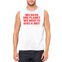 We Have One Planet - Unisex Jersey Muscle Tank Thumbnail