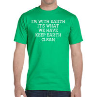 Keep earth clean - DryBlend® 5.6 oz., 50/50 T-Shirt Thumbnail