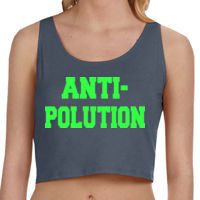 ANTI-POLUTION - Ladies' Poly-Cotton Crop Tank Thumbnail