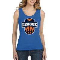 * Basketball-L - Ladies' 1x1 Baby Rib Tank Thumbnail