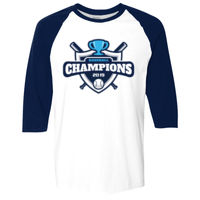 * Baseball-U - Adult  Heavy Cotton™ 5.3 oz. 3/4-Raglan Sleeve T-Shirt Thumbnail