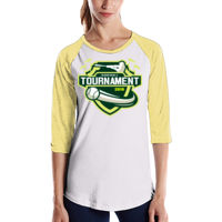 * Baseball-L - Ladies' 4.3 oz., 3/4-Sleeve Baseball Raglan Thumbnail