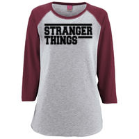 Stranger Things - Ladies'' Baseball T-Shirt Thumbnail