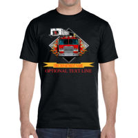 * SAC4 Fire Truck with Flames and name banner - DryBlend® 5.6 oz., 50/50 T-Shirt Thumbnail