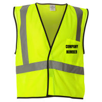 Economy Pocket Hi-Vis Vest - Text level with top edge of pocket Thumbnail