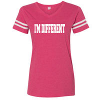 * I'M DIFFERENT - Ladies' Fine Jersey Football Tee Thumbnail
