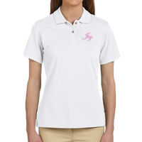 * Joy - Ladies' 6 oz. Ringspun Cotton Piqué Short-Sleeve Polo Thumbnail