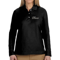 * Peace - Ladies' Pima Piqué Long-Sleeve Polo Thumbnail