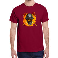 * SAC1-FP70001 - Fire Mask with text - Heavy Cotton™ 5.3 oz. T-Shirt Thumbnail